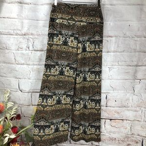 boutique Pants - High Waisted Fold Over Cuff Boho Floral Bells!